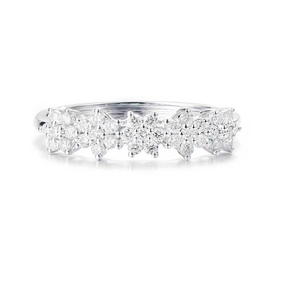 Floral Diamond Eternity Ring