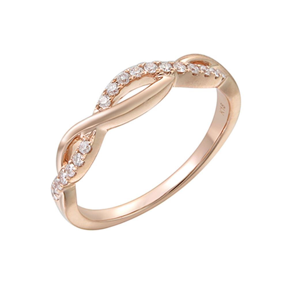 Pave set Infinity Diamond Ring