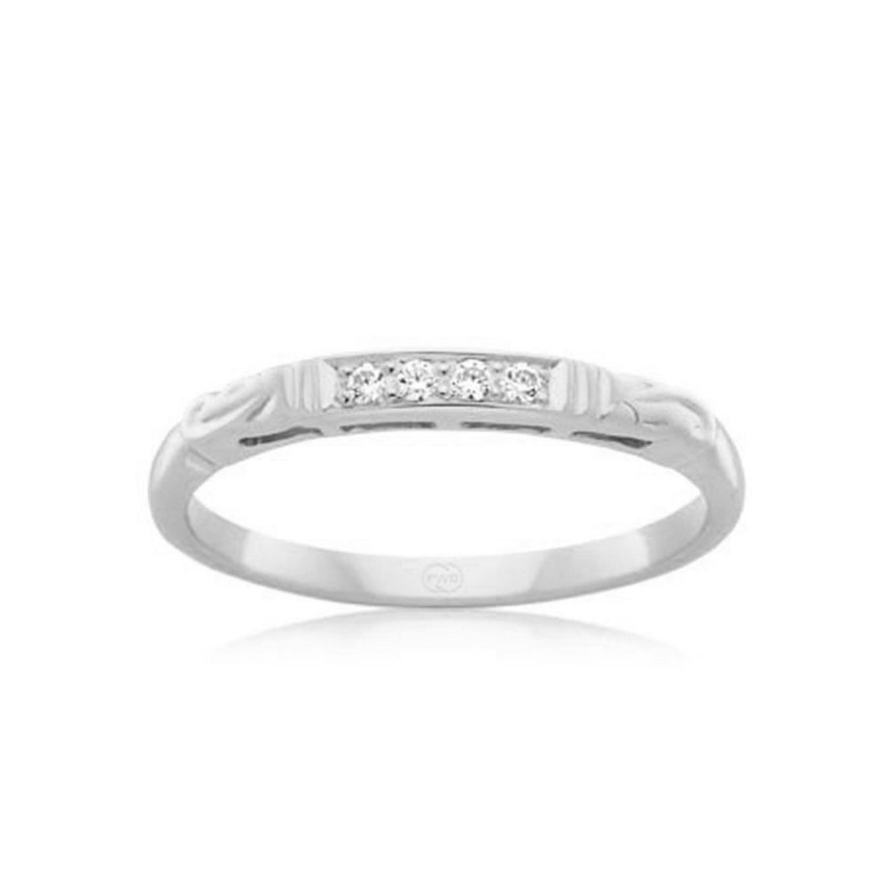 Carved Diamond Wedding ring J1670