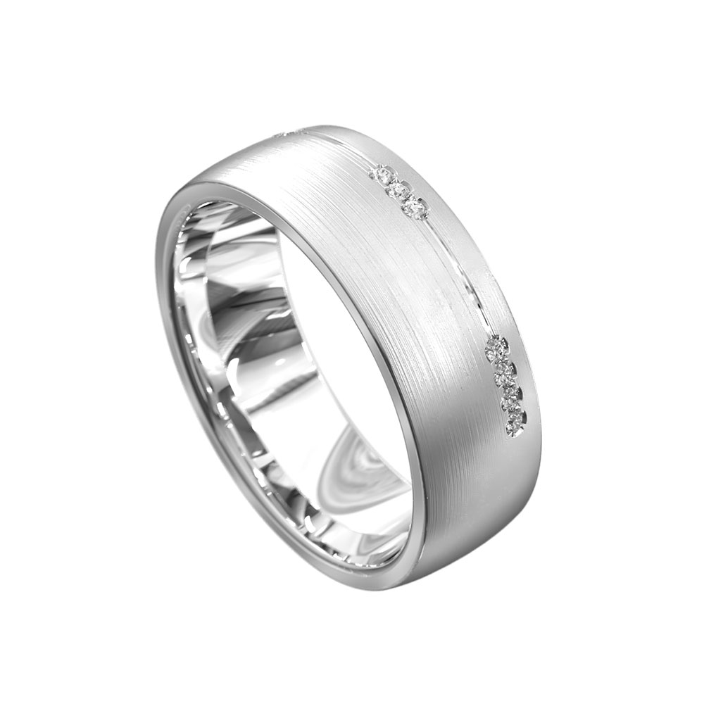 Side diamond set ring 7026P