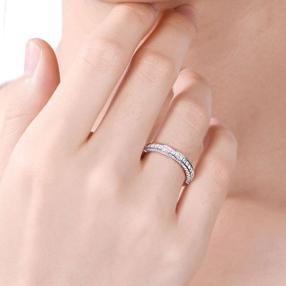 Pave Wedding Band