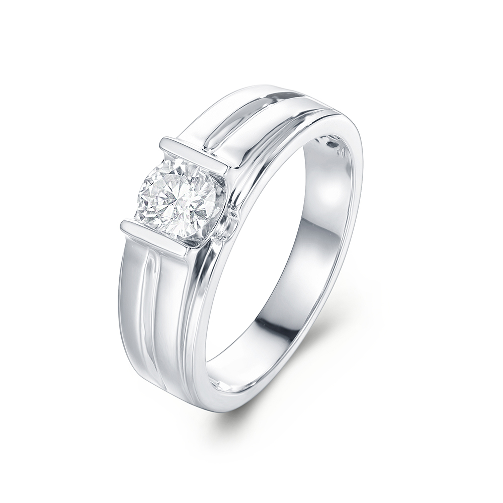 Round Diamond Mens Wedder