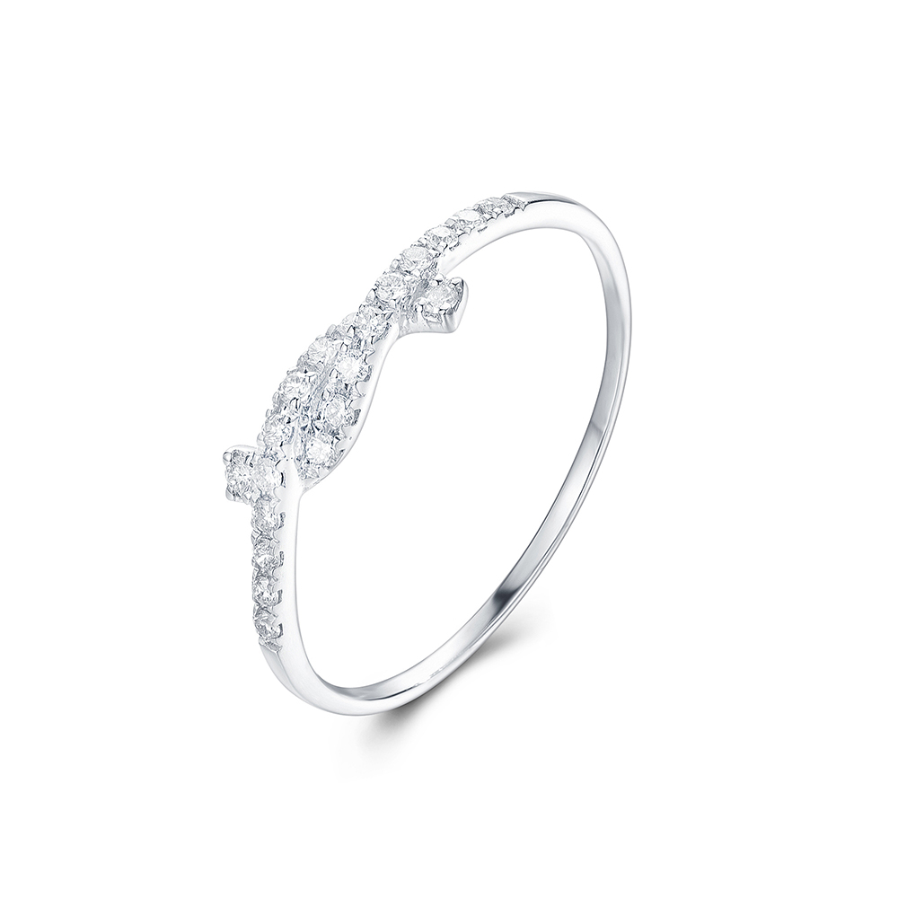 Diamond Knot Ring