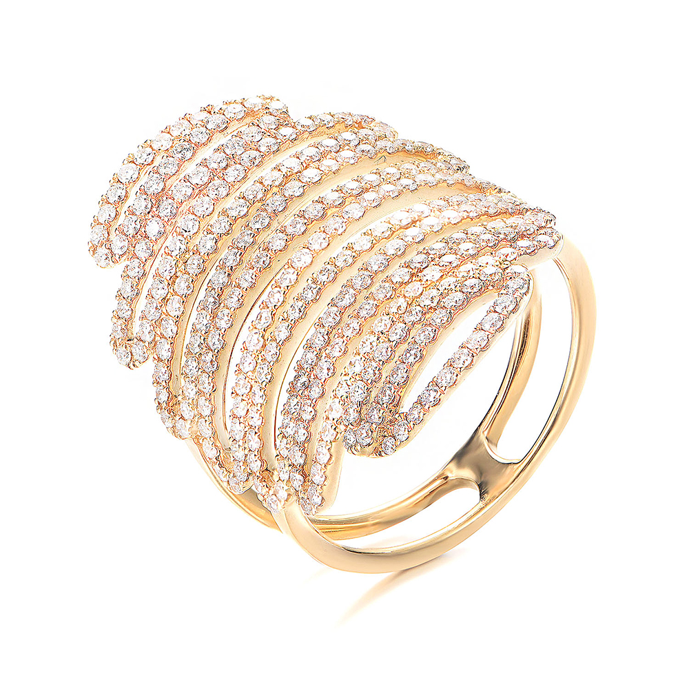 Zig Zag Diamond Dress Ring