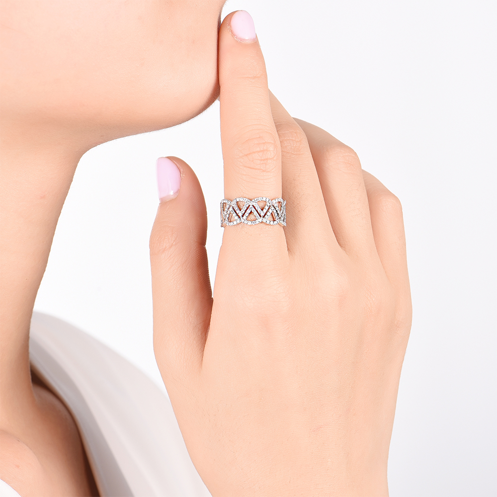 Triangle Diamond Dress Ring