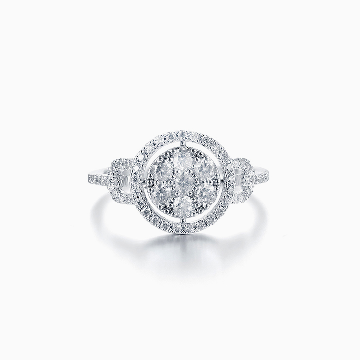 Halo Cluster Diamond Ring