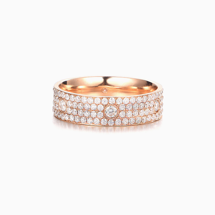 Four Row pave Eternity Diamond band