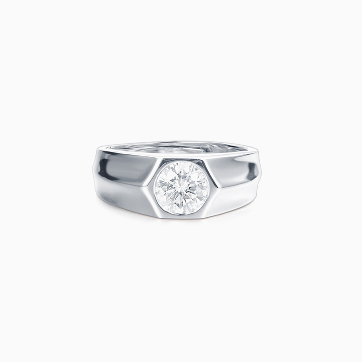 Drop Set Diamond mens wedder
