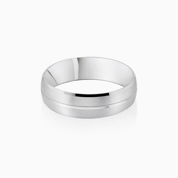 6mm Mens wedding ring