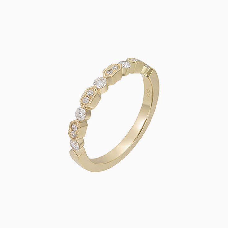 Miligrain edges diamond Ring