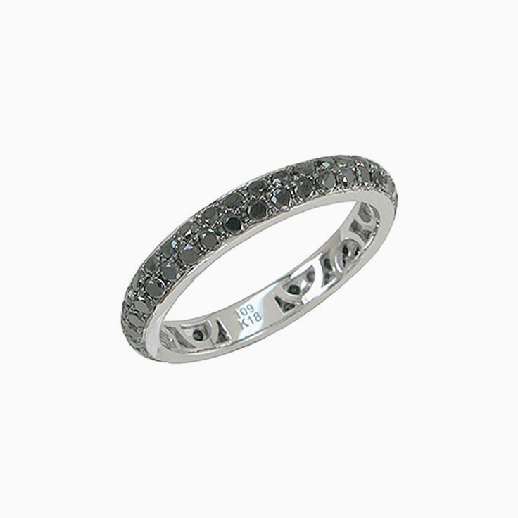 Black diamond Wedding Ring