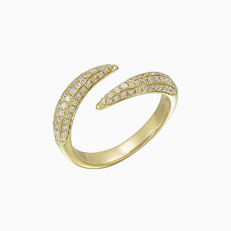 Diamond cuff rings 3234