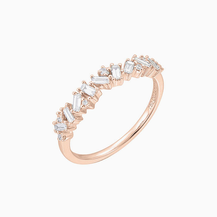 Baguette and round diamond ring 3563
