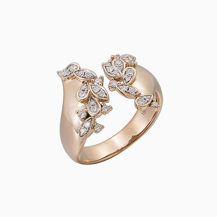 Diamond cuff dress ring 3579