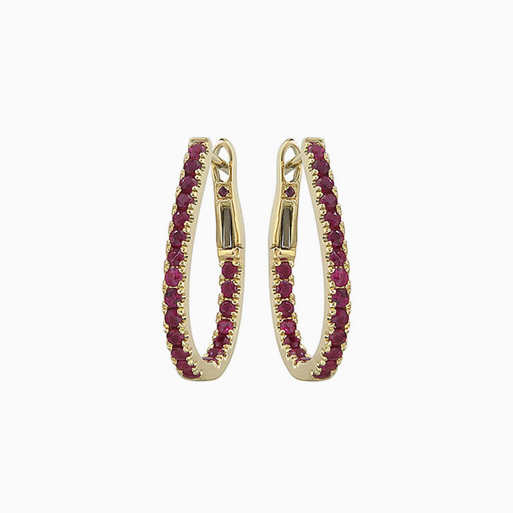 Red Ruby Hoops 3763