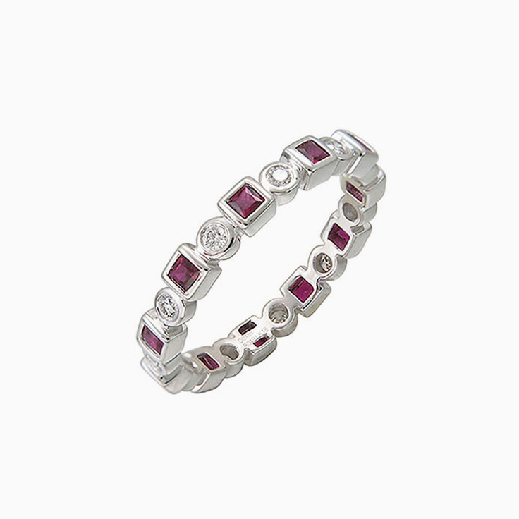 Ruby and diamond band 3795