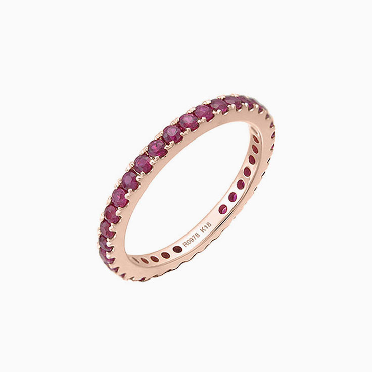 Ruby Eternity Ring