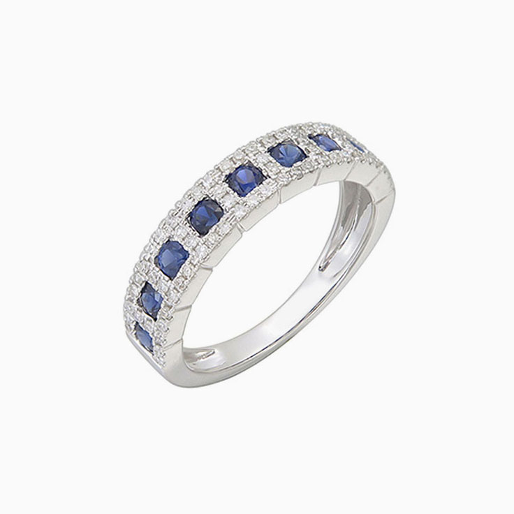 Saphhire and diamond ring 3962