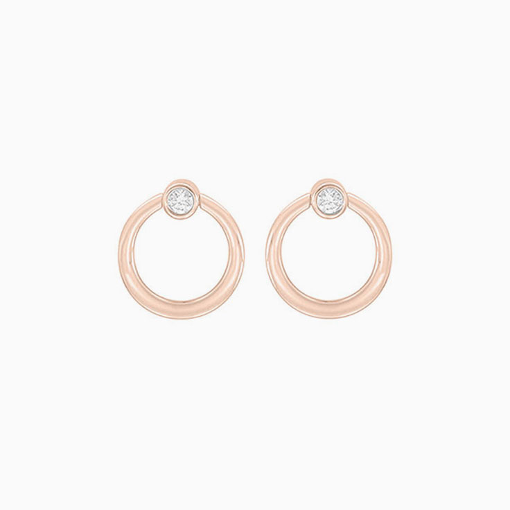 Circle Shape diamond studs F1172