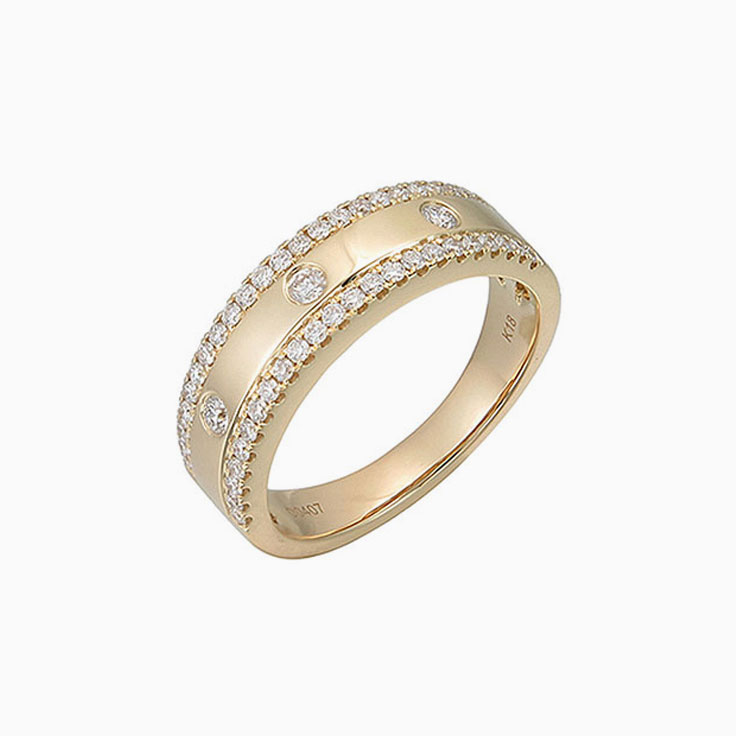 Centre drop set diamond ring F2993