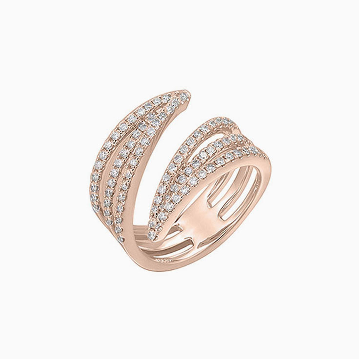 Diamond Cuff ring F3049