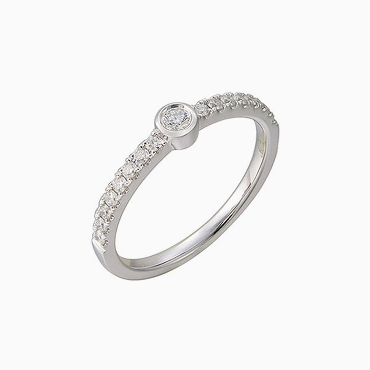 Centre Drop set Diamond ring