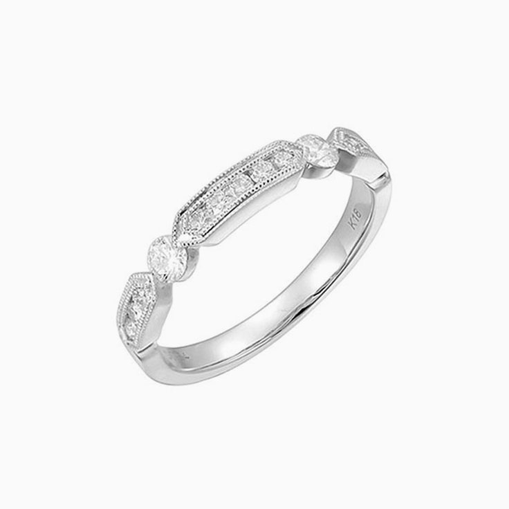 Patterned Ladies wedding ring 3107