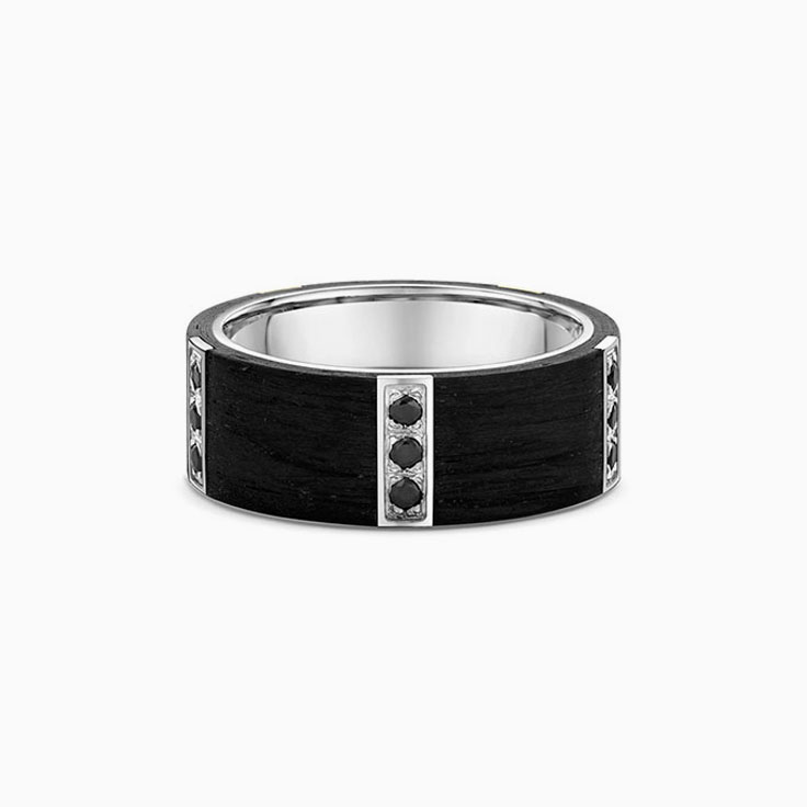 Black on Black Mens ring 670B00