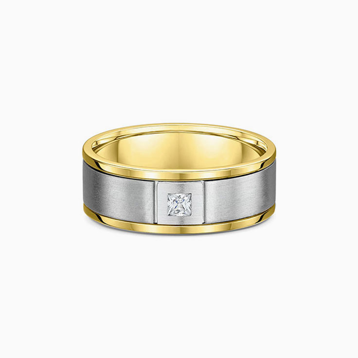 Princess cut mens wedding ring 585600