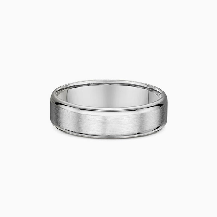 Matt Finish Mens Wedding Ring 574A10