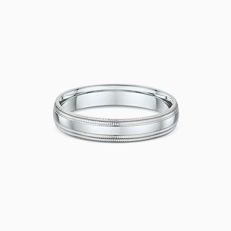 Double miligrain Mens ring 294A12