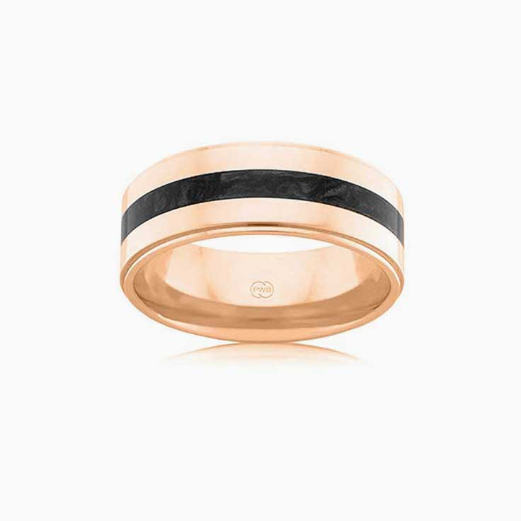 Black spectrum wedding ring J4377