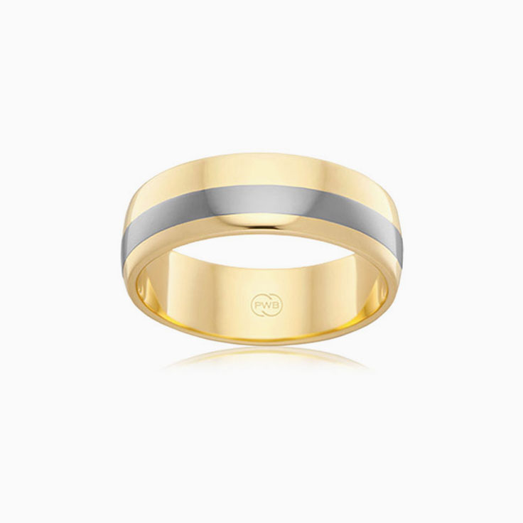 Centre Titanium mens ring TIJ2768