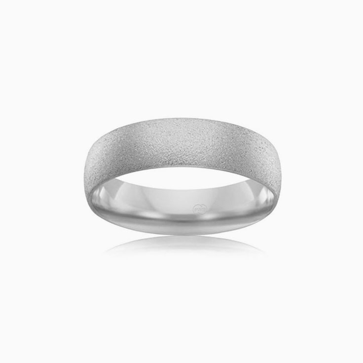 Brushed finish comfort fit ring CW1221