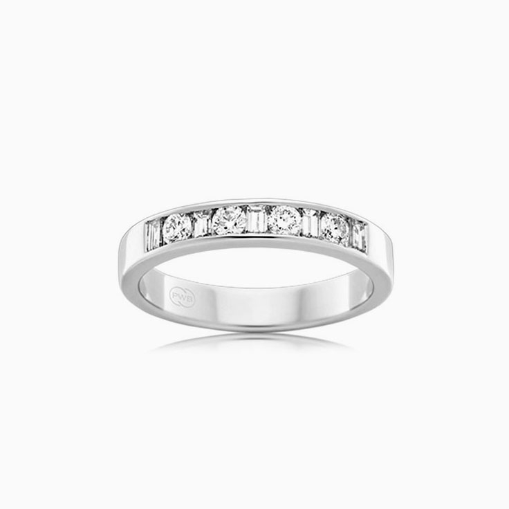 Baguette and Round diamond ring F4254