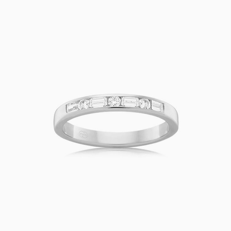 Baguette and round ring FR3478