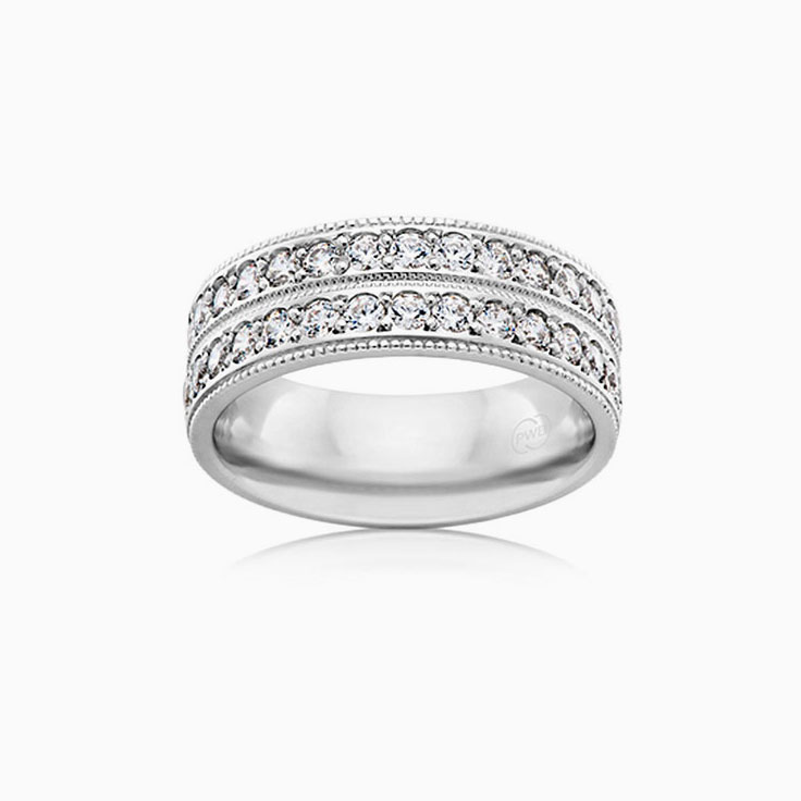 Double row diamond dress ring F4161