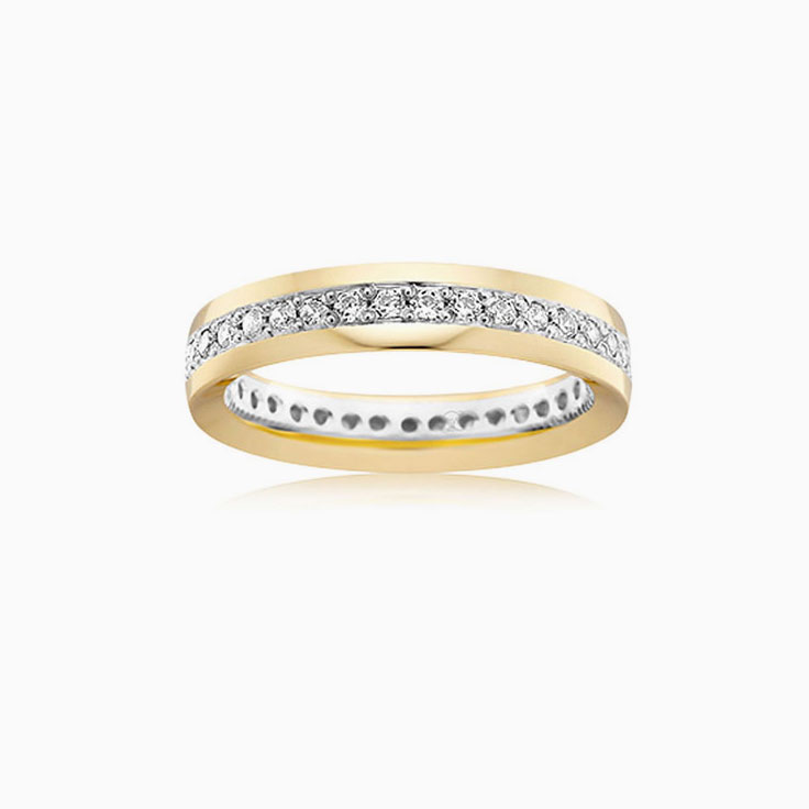 Two tone ladies wedding ring 2T3740