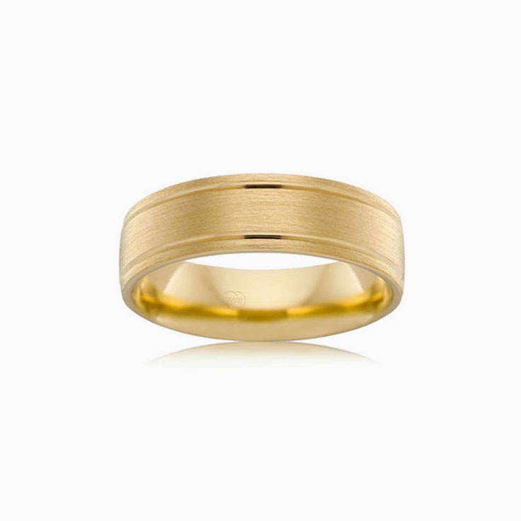 Double groove wedding ring B2867