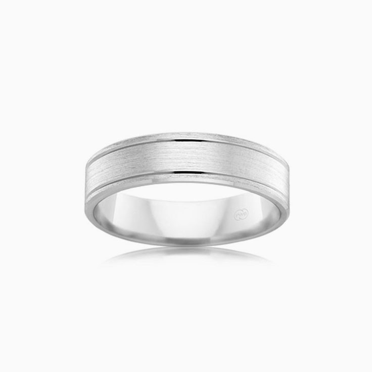 Matt finish Mens Wedding band F2774