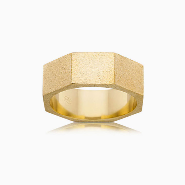 Octagon Shape mens ring F3359