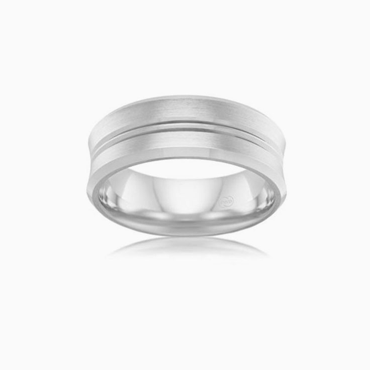 Grooved Mens Wedding Ring F3864