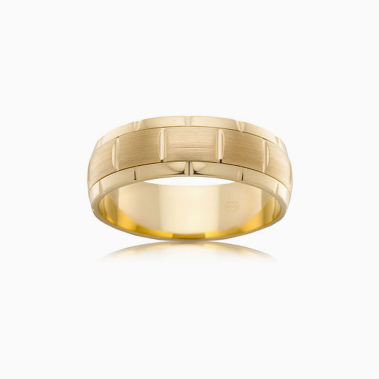 Matt and polished finish ring J2712