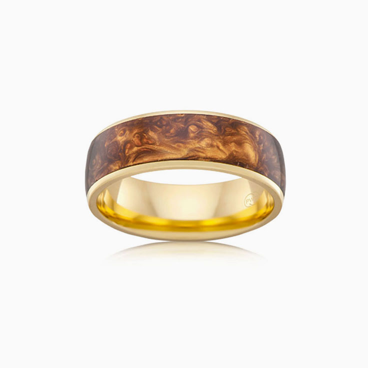 Brown Spectrum mens ring J4295