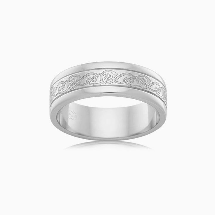 Patterned Mens Wedding ring F3580
