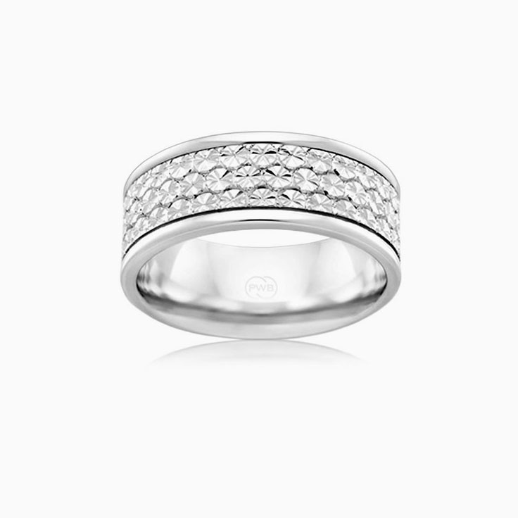 Carved Mens Wedding ring J1666