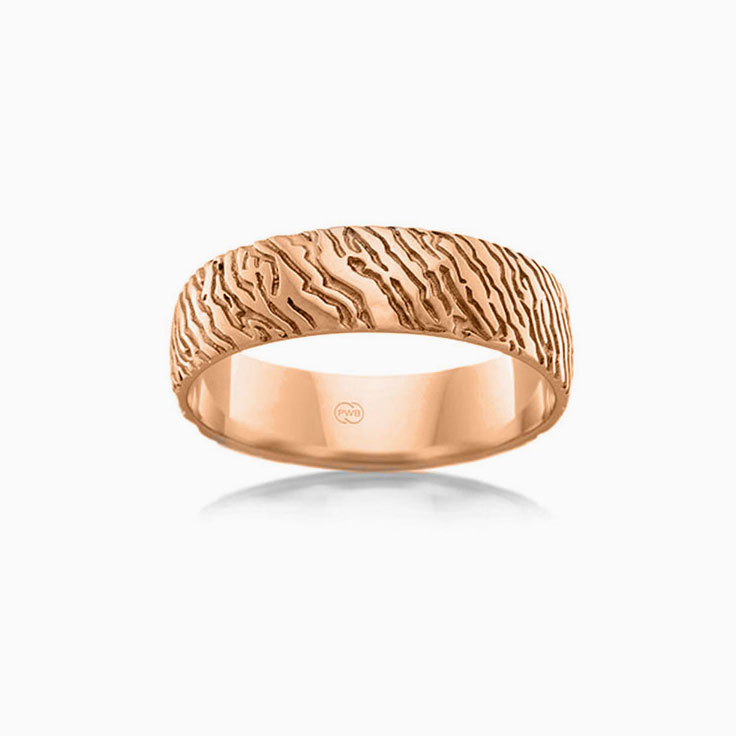 Carved Mens Wedding ring J3597
