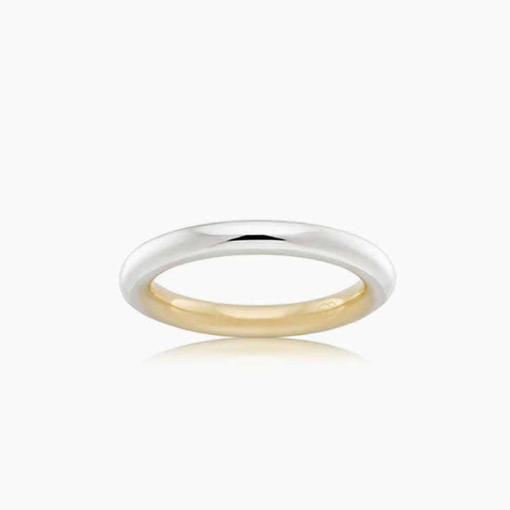 Two tone ladies wedding ring 2T3701