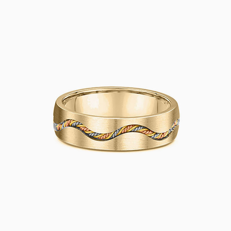 Cable braided Mens ring 2226000