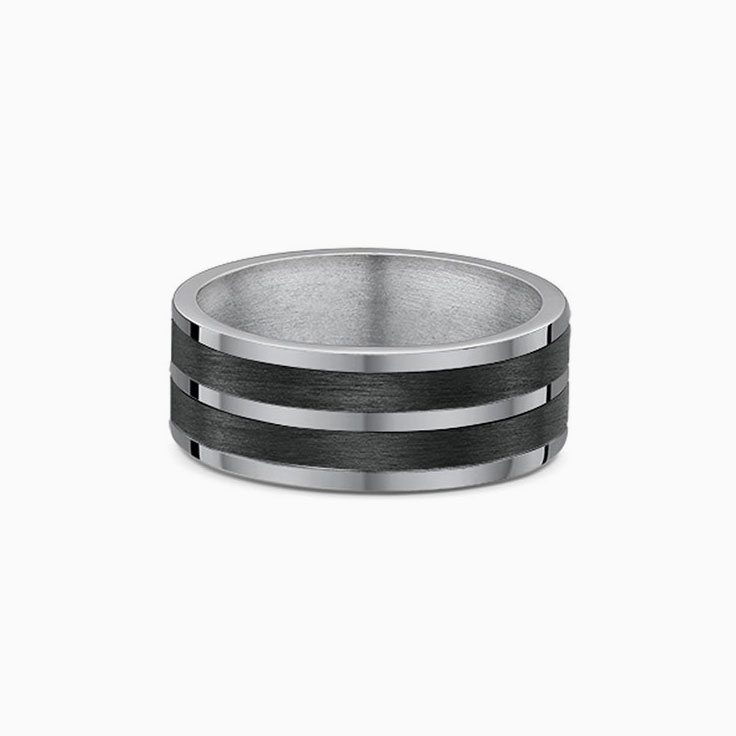 Titanium and Carbon fibre ring 582B01